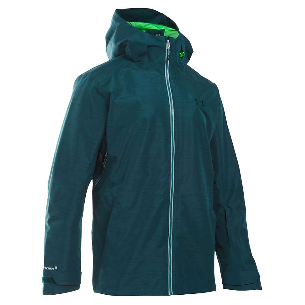 Under Armour Men's UA ColdGear Infrared Haines Shell Jacket - Small - Nova Teal / Northern Lights / Overcast Grey