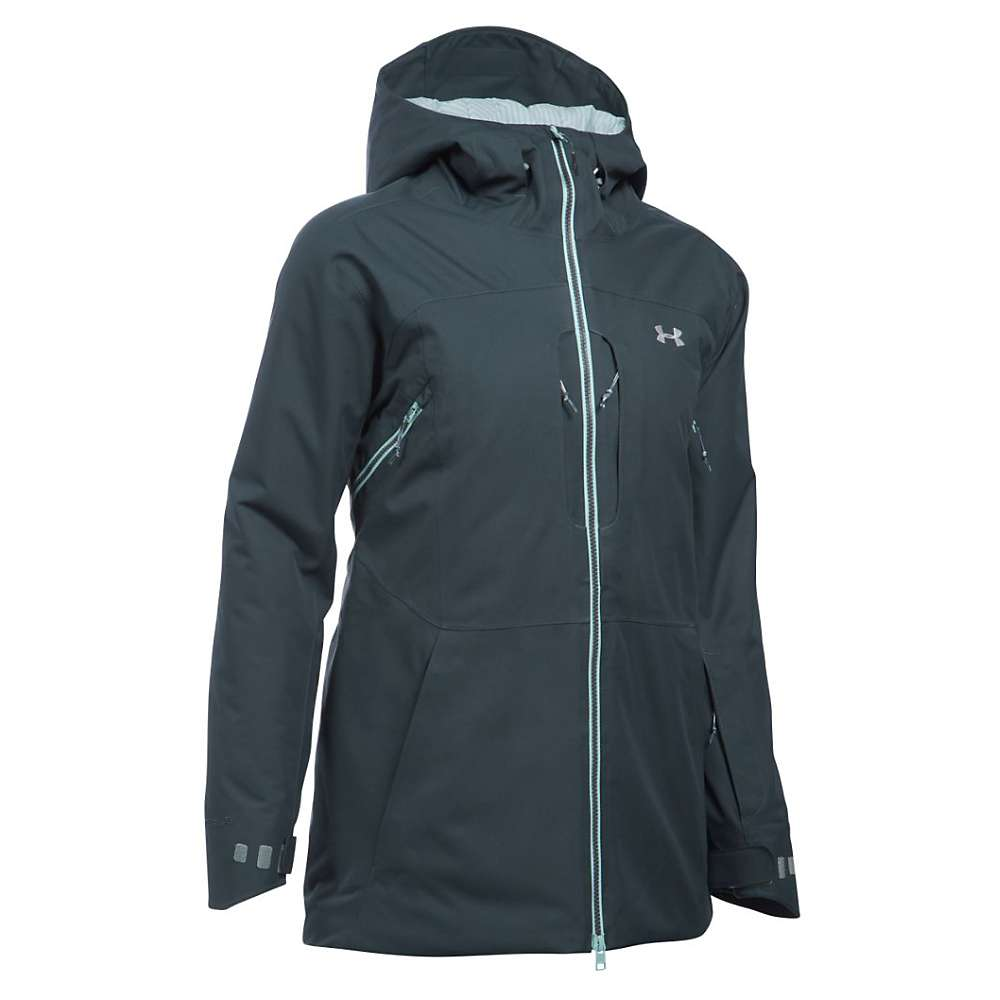 Under Armour Women's UA ColdGear Infrared Revy Insulated Jacket - XL - Stealth Grey / Aqua Falls / Steel