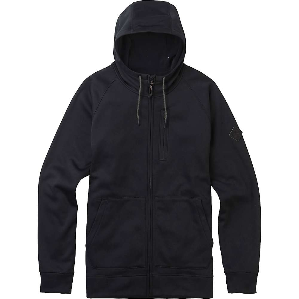 Burton Men's Bonded Full-Zip Hoodie - XL - True Black 5001