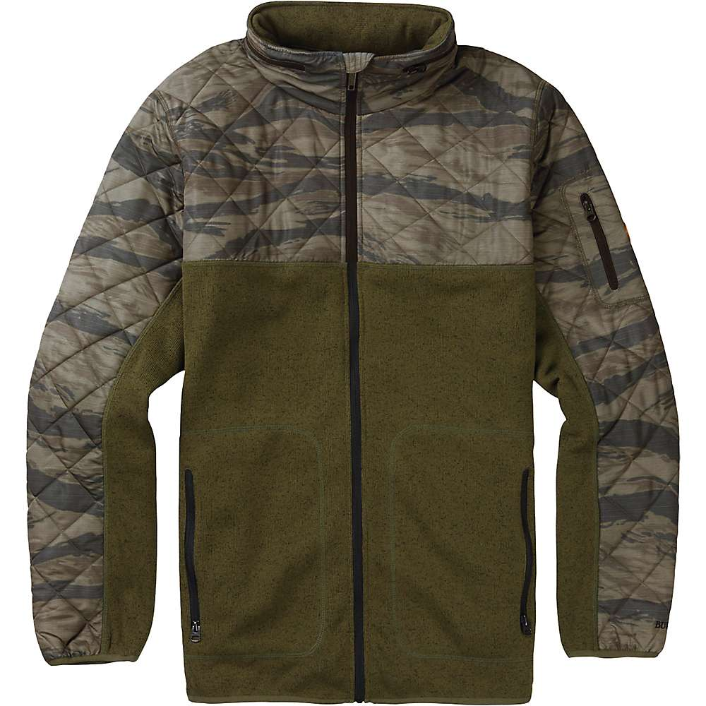 Burton Men's Pierce Fleece Jacket - XL - True Black Heather