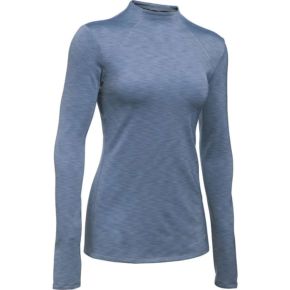 Under Armour Women's ColdGear Armour Mock Neck Top - XXL - Aurora Purple / Black / Metallic Silver