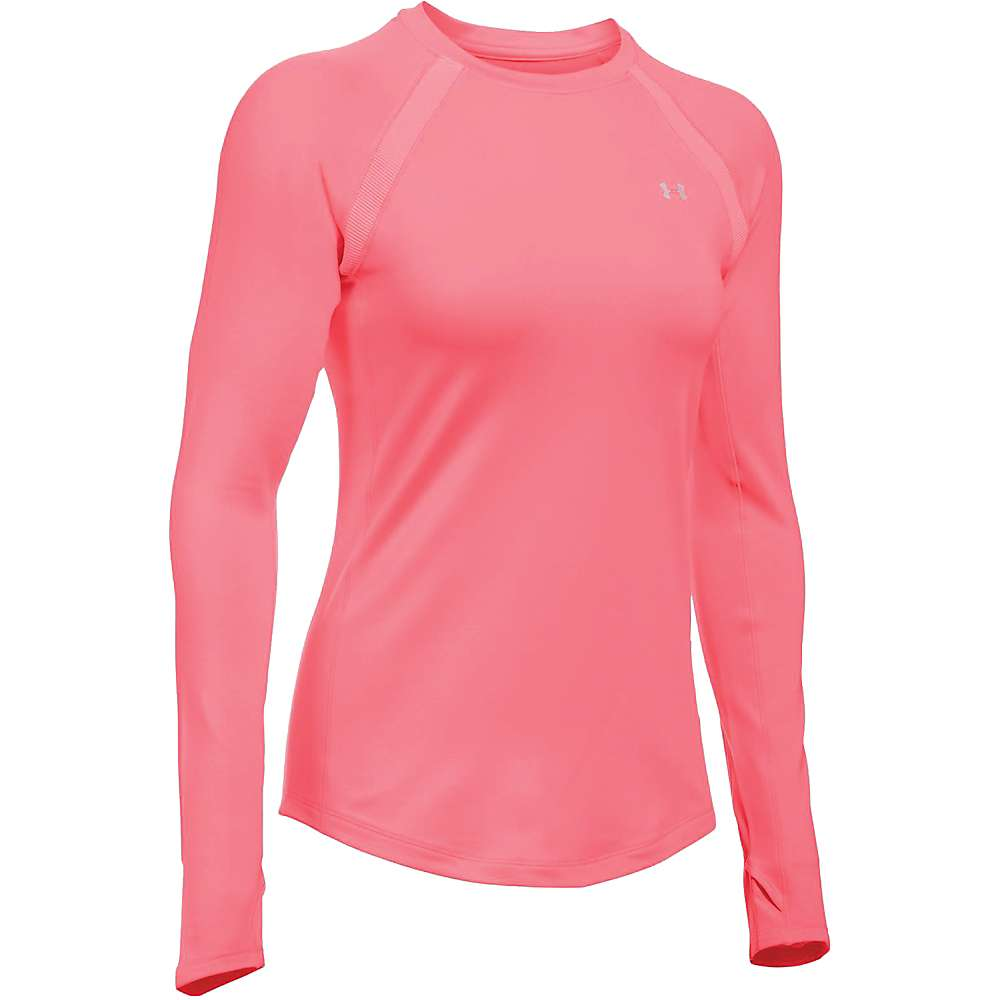 Under Armour Women's UA ColdGear Armour Crew Neck Top - XS - Brilliance / Brilliance / Metallic Silver