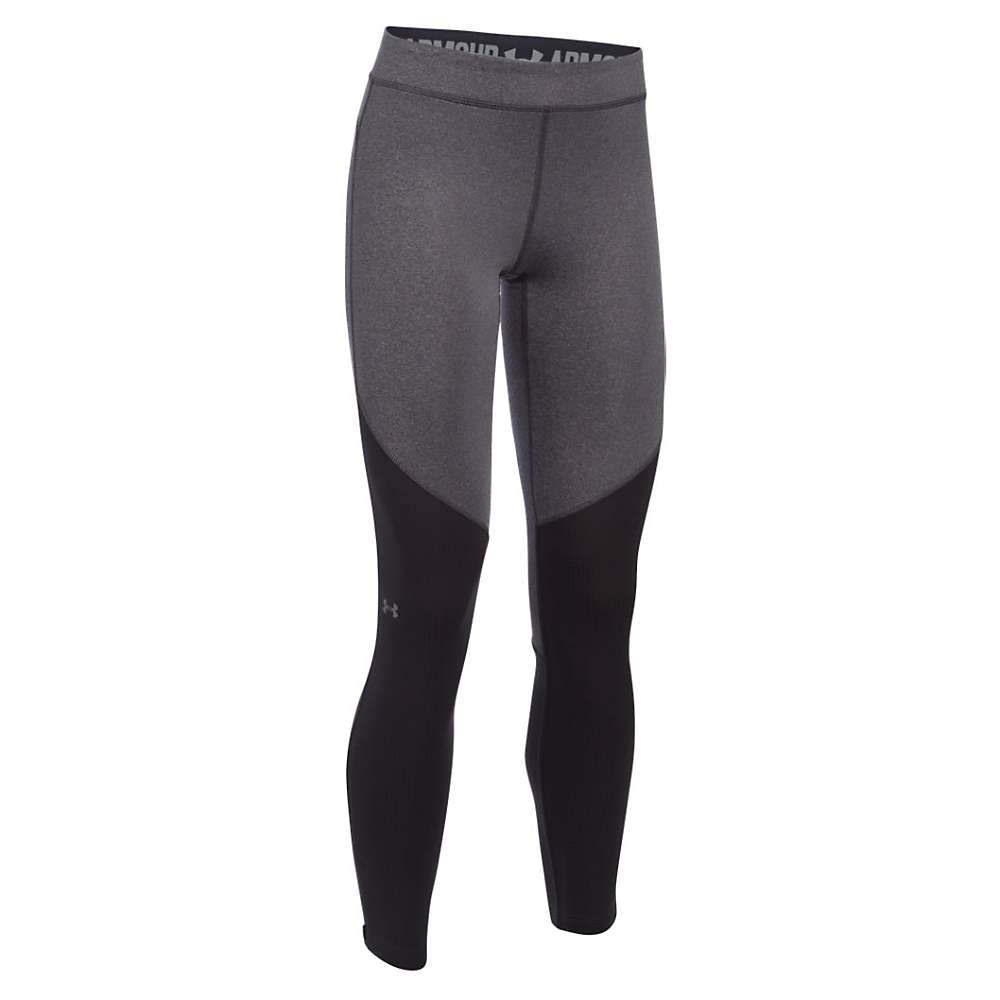 Under Armour Women's ColdGear Armour Elements Legging - XS - Carbon Heather / Reflective