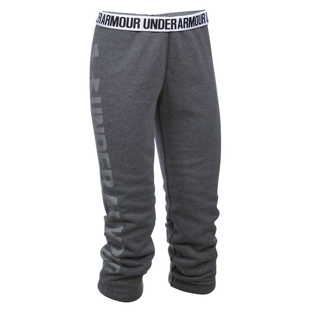 Under Armour Women's Favorite Fleece Capri - XL - Carbon Heather / White