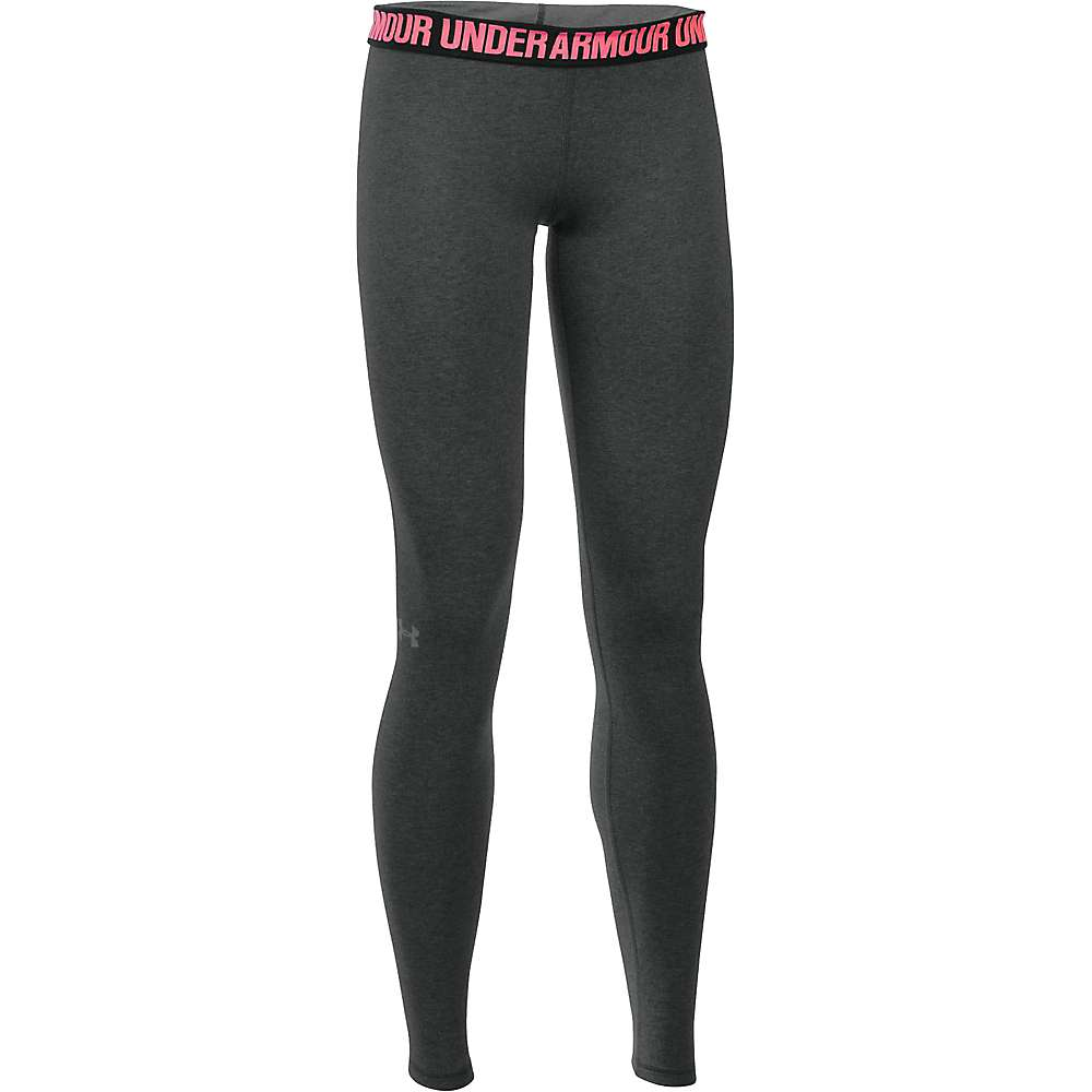 Under Armour Women's UA Favorite Solid Legging - XS - Carbon Heather / Metallic Silver