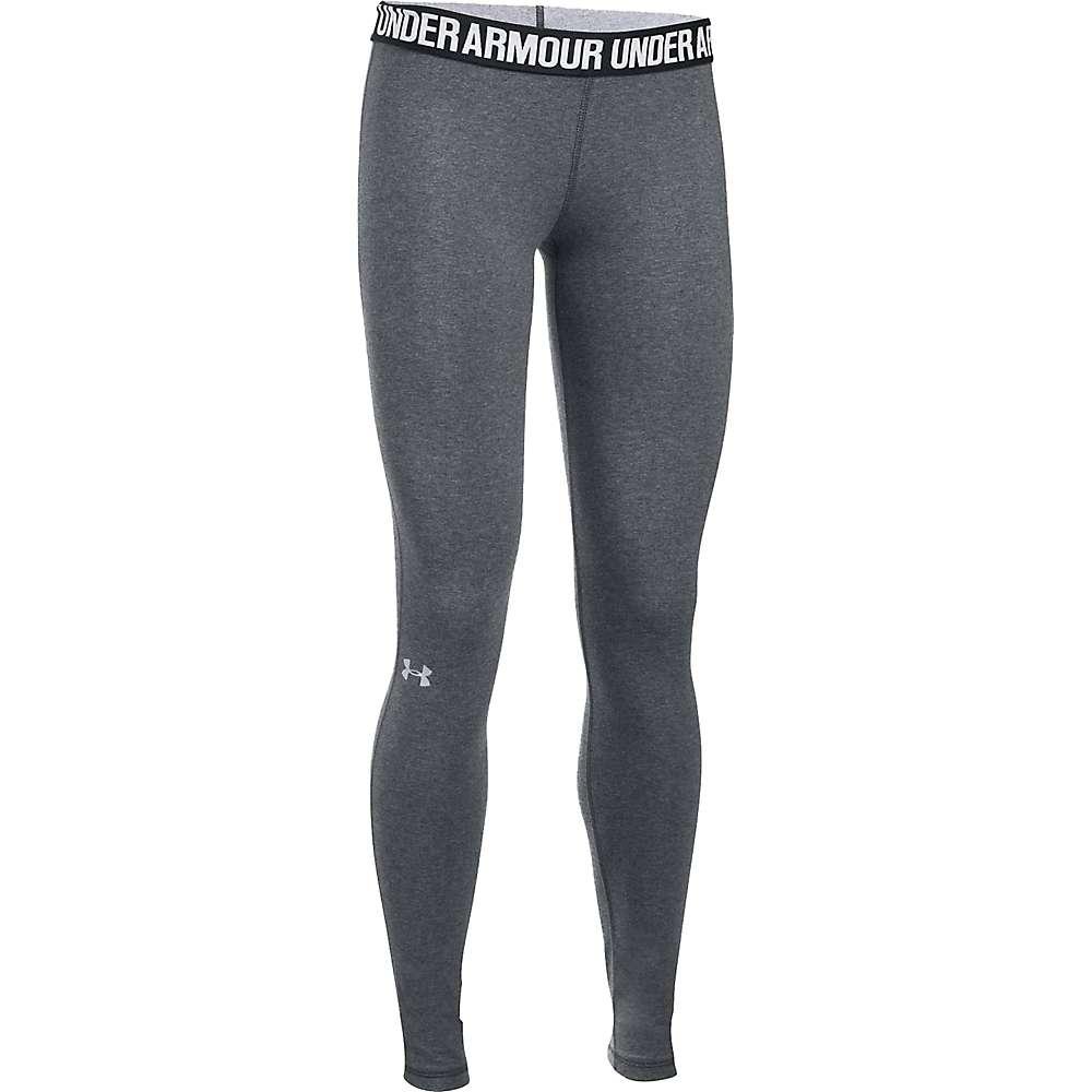 Under Armour Women's UA Favorite Solid Legging - XL Short - Carbon Heather / Black / Metallic Silver