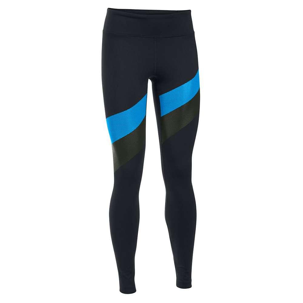 Under Armour Women's Mirror Stripe Legging - Medium - Black / Water / Gray Area