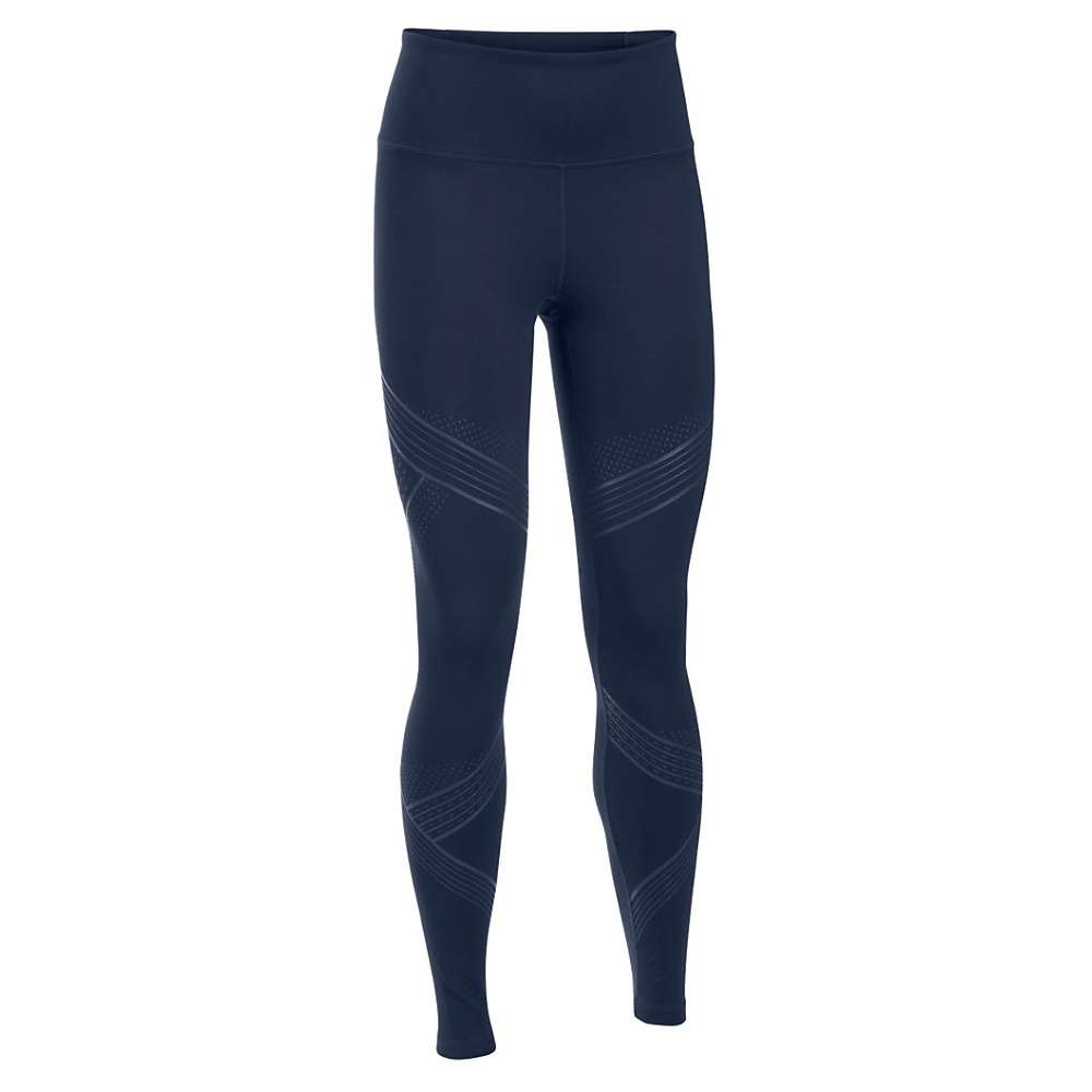 Under Armour Women's Mirror Hi Rise Luminous Legging - Small - Midnight Navy / Faded Ink