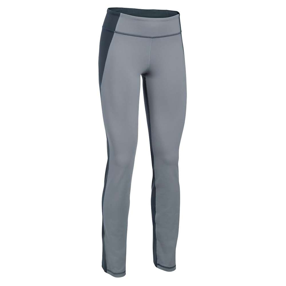Under Armour Women's Mirror Straight Leg Pant - XS - Steel / Stealth Gray / Silver