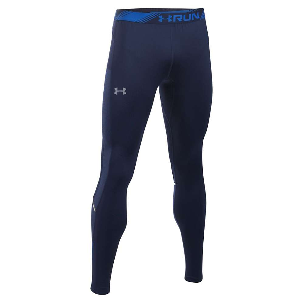 Under Armour Men's NoBreaks ColdGear Infrared Tight - Medium - Midnight Navy / Midnight Navy / Reflective