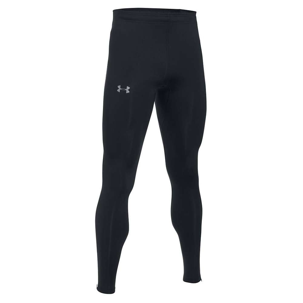 Under Armour Men's NoBreaks HeatGear Tight - Small - Black / Black / Reflective