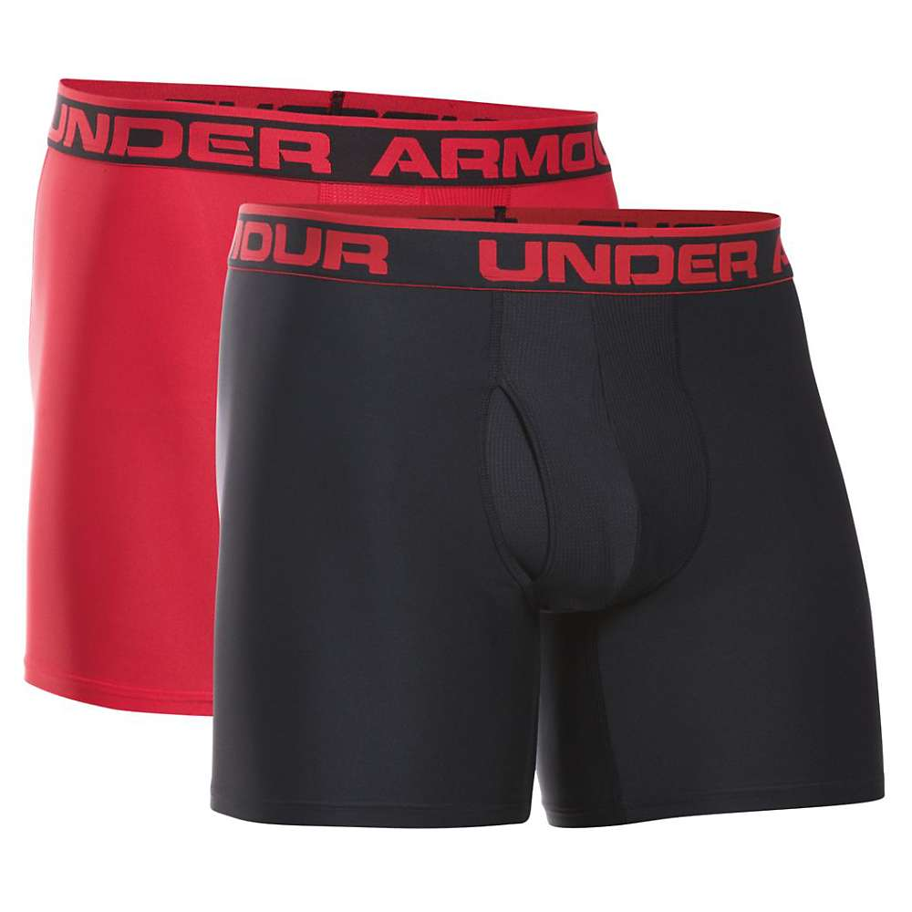 Under Armour Men's O Series 6IN Boxerjock - 2 Pack - XL - Black / Red
