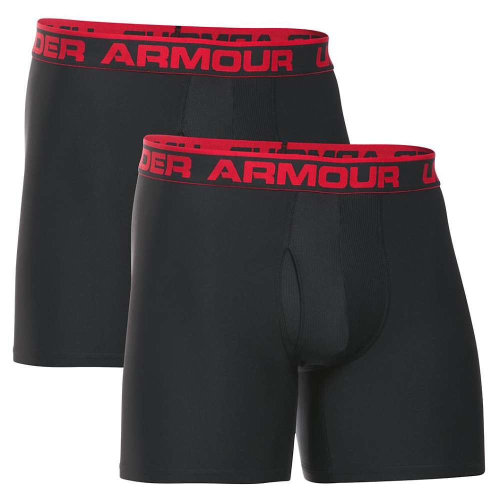 Under Armour Men's O Series 6IN Boxerjock - 2 Pack - XXL - Black / Black
