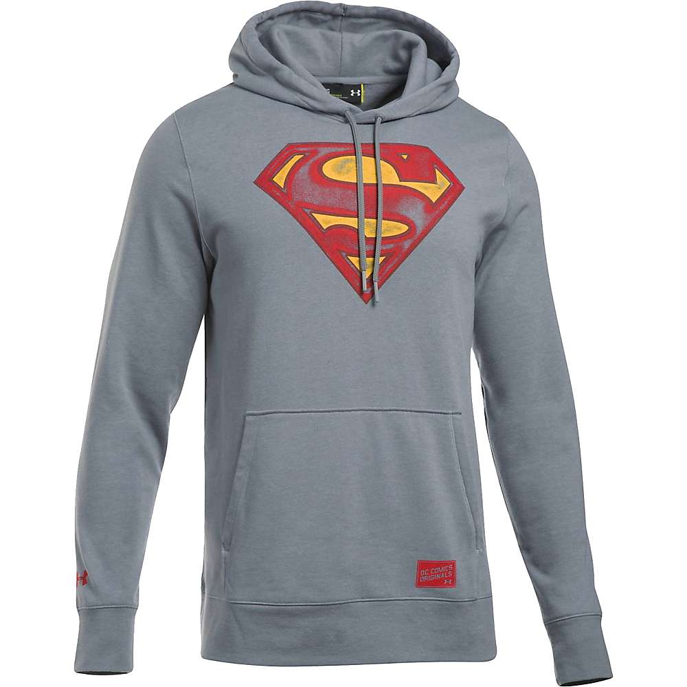 Under Armour Men's Retro Superman Triblend Hoody - Small - Steel / Red