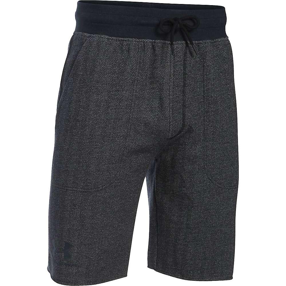 Under Armour Men's Rival Cotton Fleece Short - Small - Asphalt Heather / Black / Black