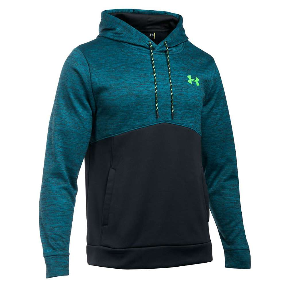 Under Armour Men's Storm Armour Fleece Icon Twist Hoodie - XXL - Peacock / Black / Hyper Green