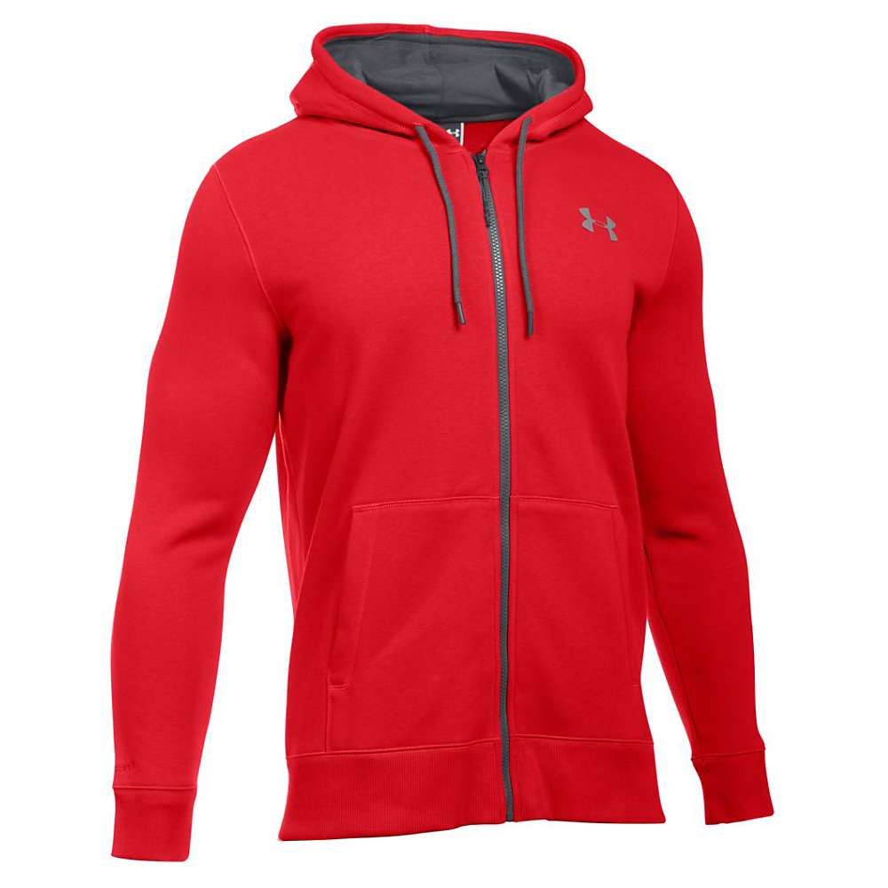 Under Armour Men's Storm Rival Cotton Full Zip Hoodie - Medium - Red / Stealth Gray / Graphite