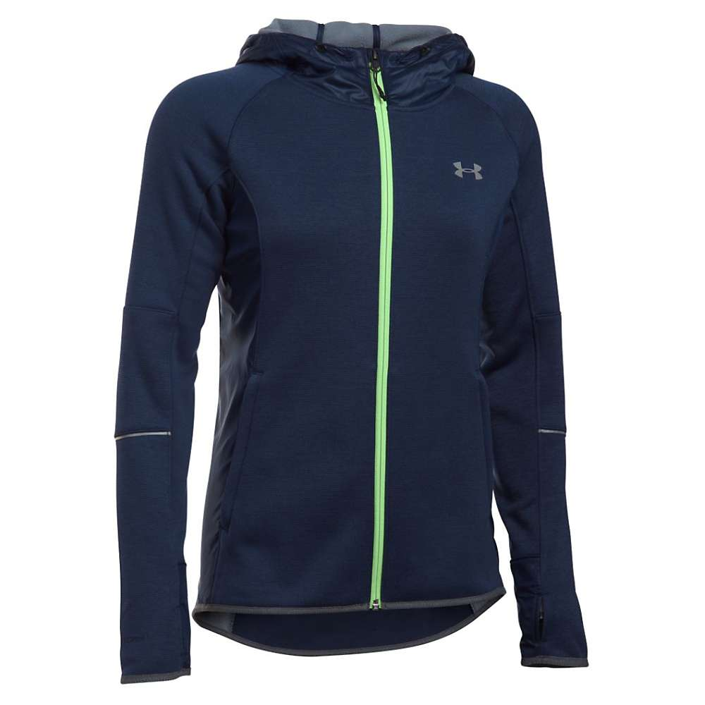 Under Armour Women's Storm Full Zip Swacket - XL - Midnight Navy / Midnight Navy / Metallic Silver