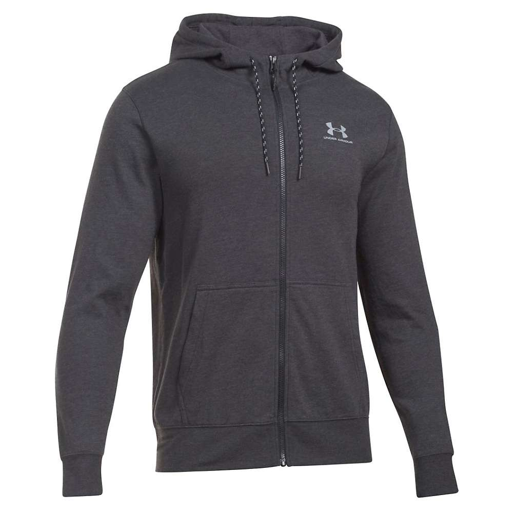 Under Armour Men's Triblend Full Zip Hoodie - Large - Asphalt Heather / Greyhound Heather / Steel