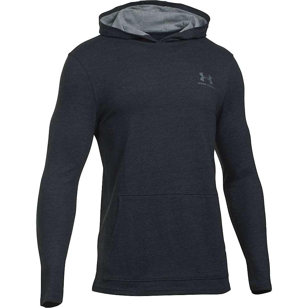 Under Armour Men's Triblend LS Jersey Pullover Hoodie - Large - Asphalt Heather / Greyhound Heather / Graphite