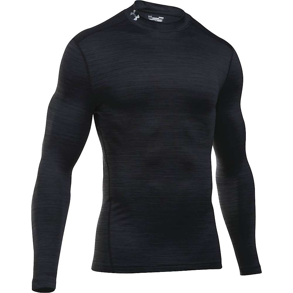 Under Armour Men's UA ColdGear Armour Twist Mock Neck Top - XXL - Black / Black