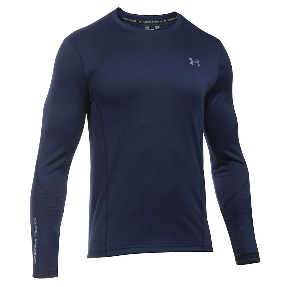 Under Armour Men's UA ColdGear Infrared Grid Fitted LS Tee - XXL - Midnight Navy / Steel