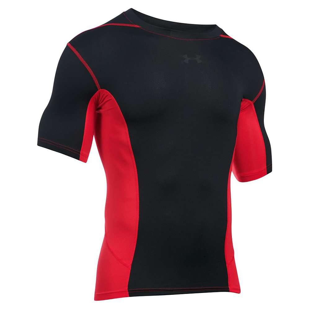 Under Armour Men's UA HeatGear Armour Supervent SS Top - 3XL - Red / Black / Black
