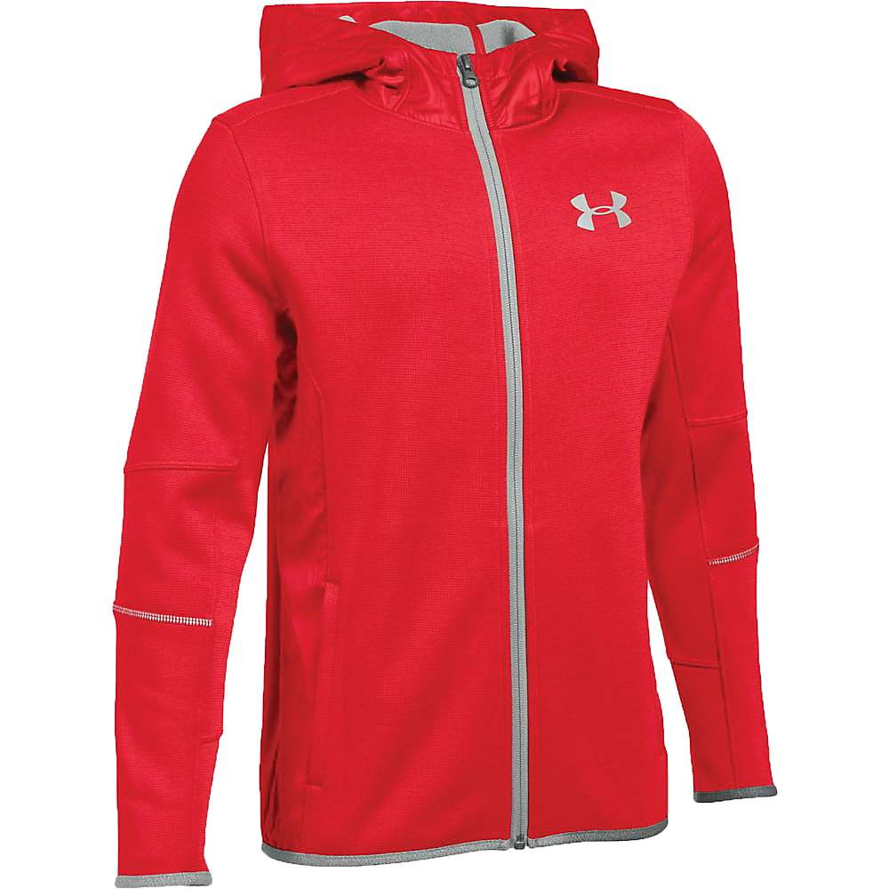 Under Armour Boys' UA Swacket Full Zip Jacket - Small - Red / Silver