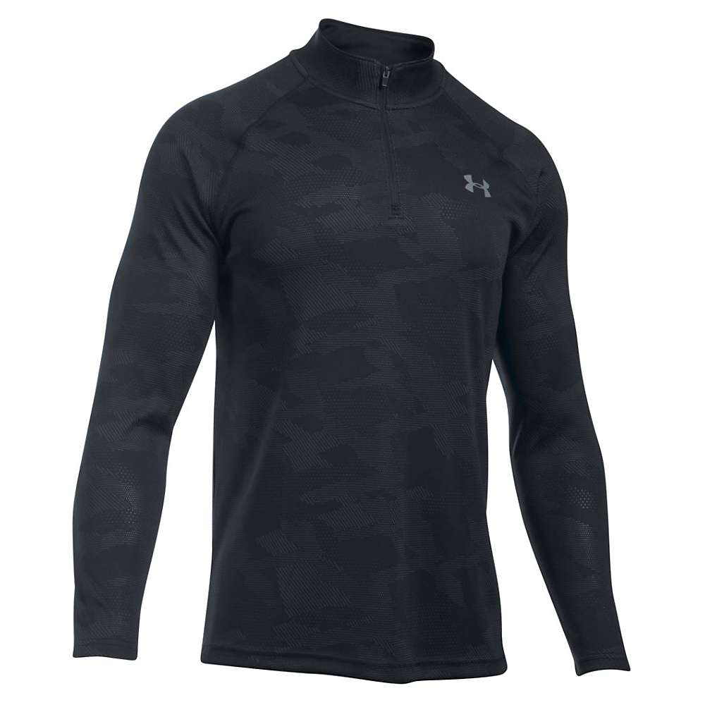 Under Armour Men's UA Tech Jacquard 1/4 Zip Top - Medium - Black / Stealth Gray / Steel