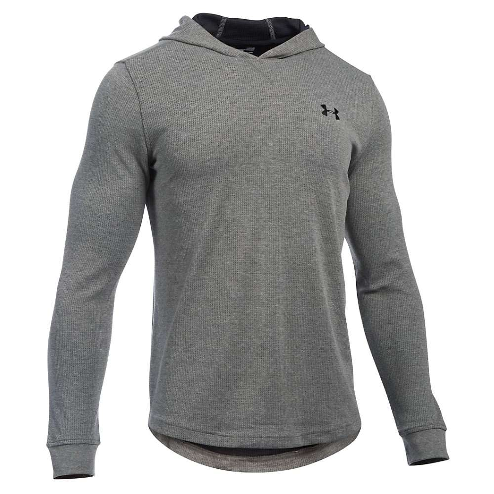 Under Armour Men's UA Waffle Popover Hoody - Medium - Asphalt Heather / Black / Black