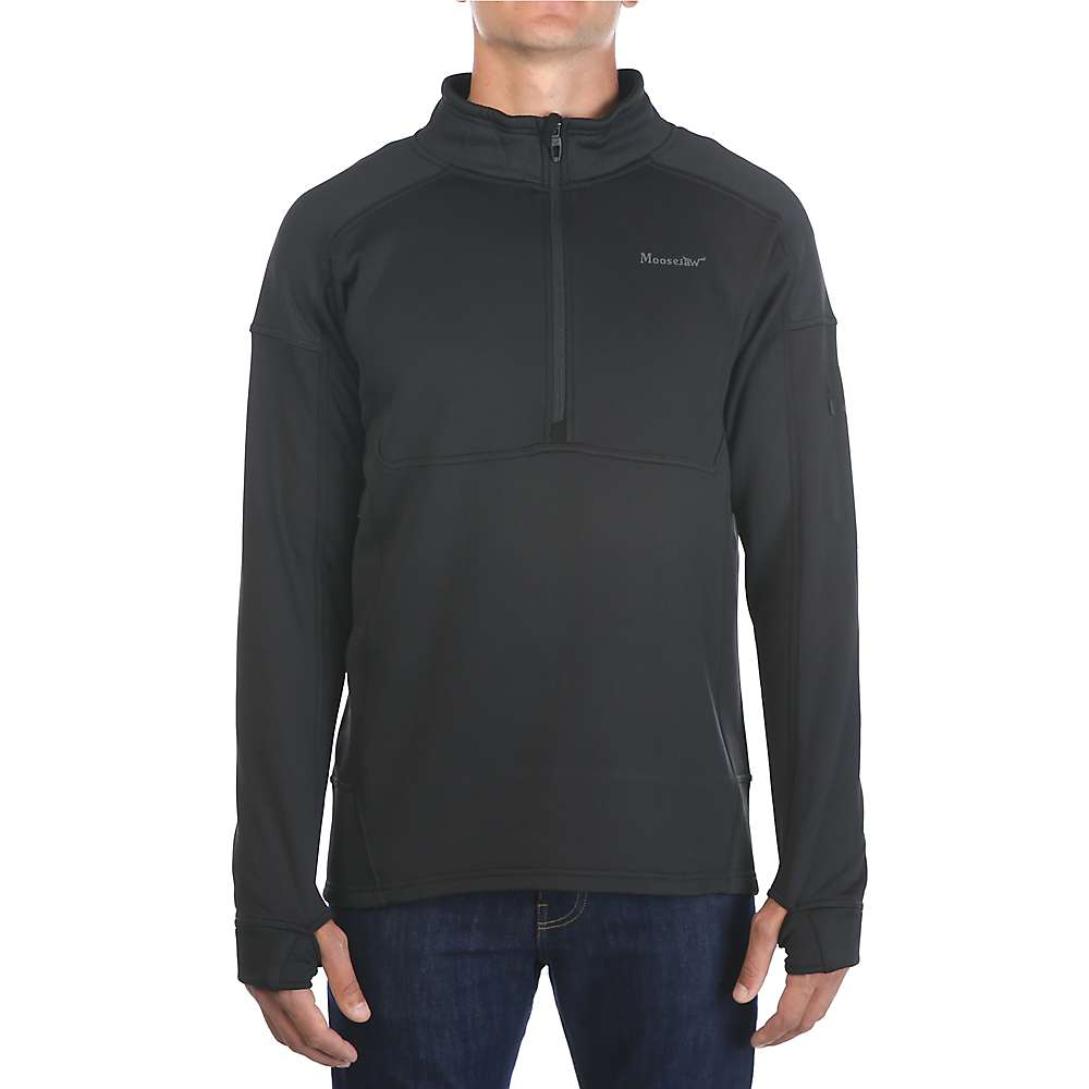 Moosejaw Men's Woodbridge 1/2 Zip Stretch Fleece - XXL Tall - Black