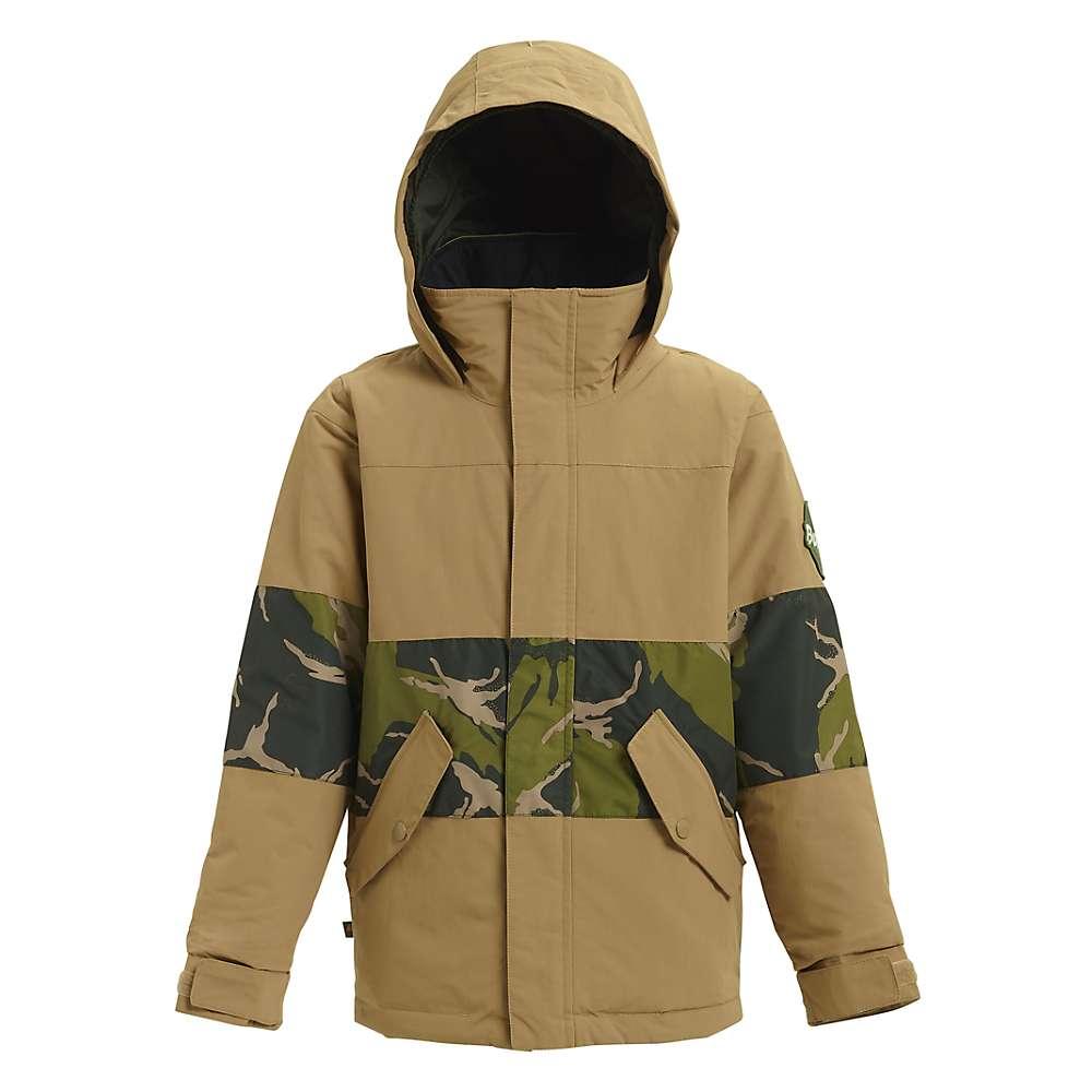 Burton Boys' Symbol Jacket – Medium – Kelp / Mountain Camo