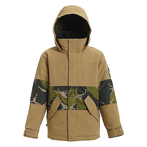 Burton Boys' Symbol Jacket Kelp / Mountain Camo
