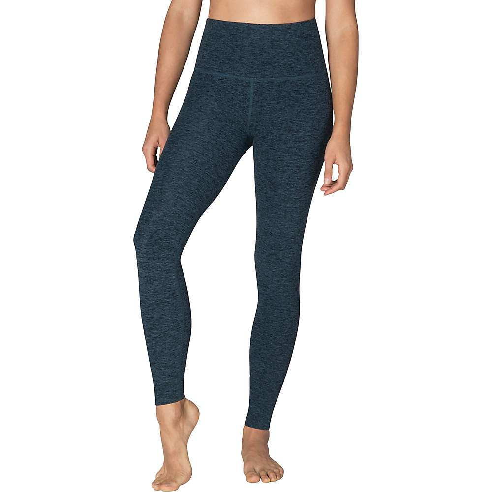 Beyond Yoga Women's Spacedye High Waist Long Legging - XL - Black / Deep Sapphire