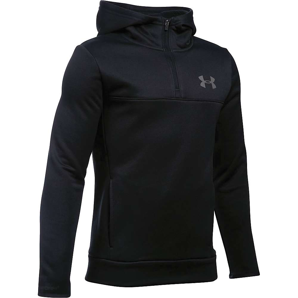 Under Armour Boys' Armour Fleece Storm 1/4 Zip Hoodie - Small - Black / Black / Graphite