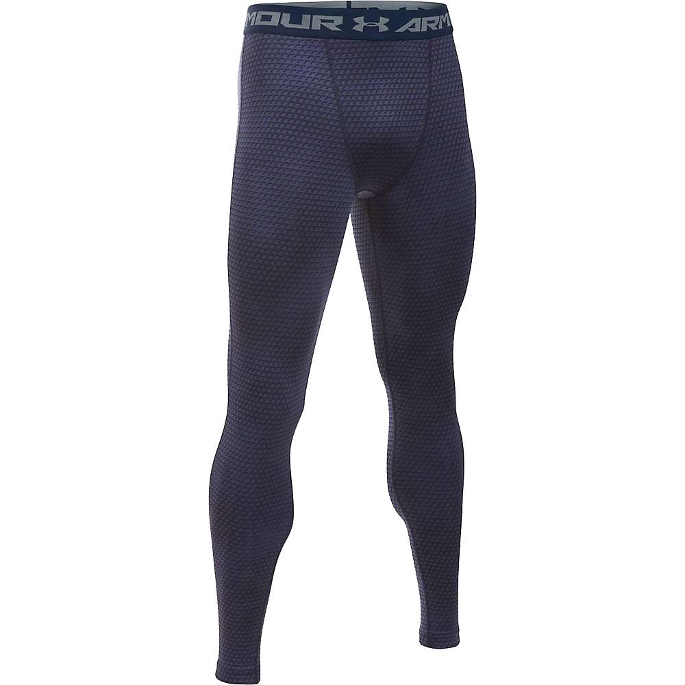 Under Armour Men's Armour HeatGear Printed Legging - Medium - Midnight Navy / Steel