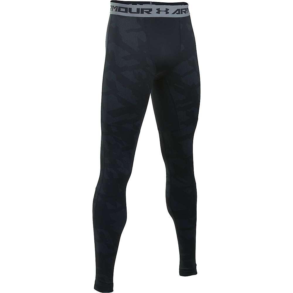 Under Armour Men's ColdGear Armour Jacquard Legging - Medium - Black / Steel