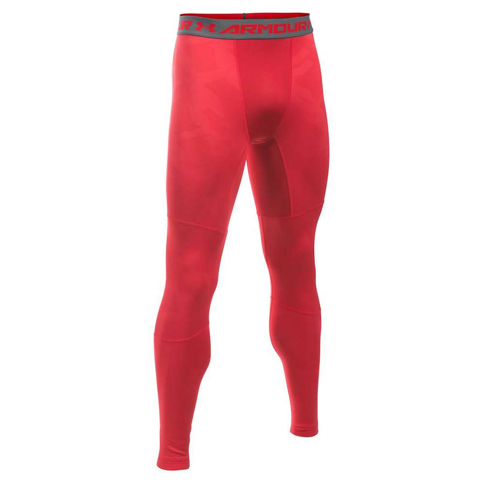 Under Armour Men's ColdGear Armour Jacquard Legging - Small - Red / Graphite