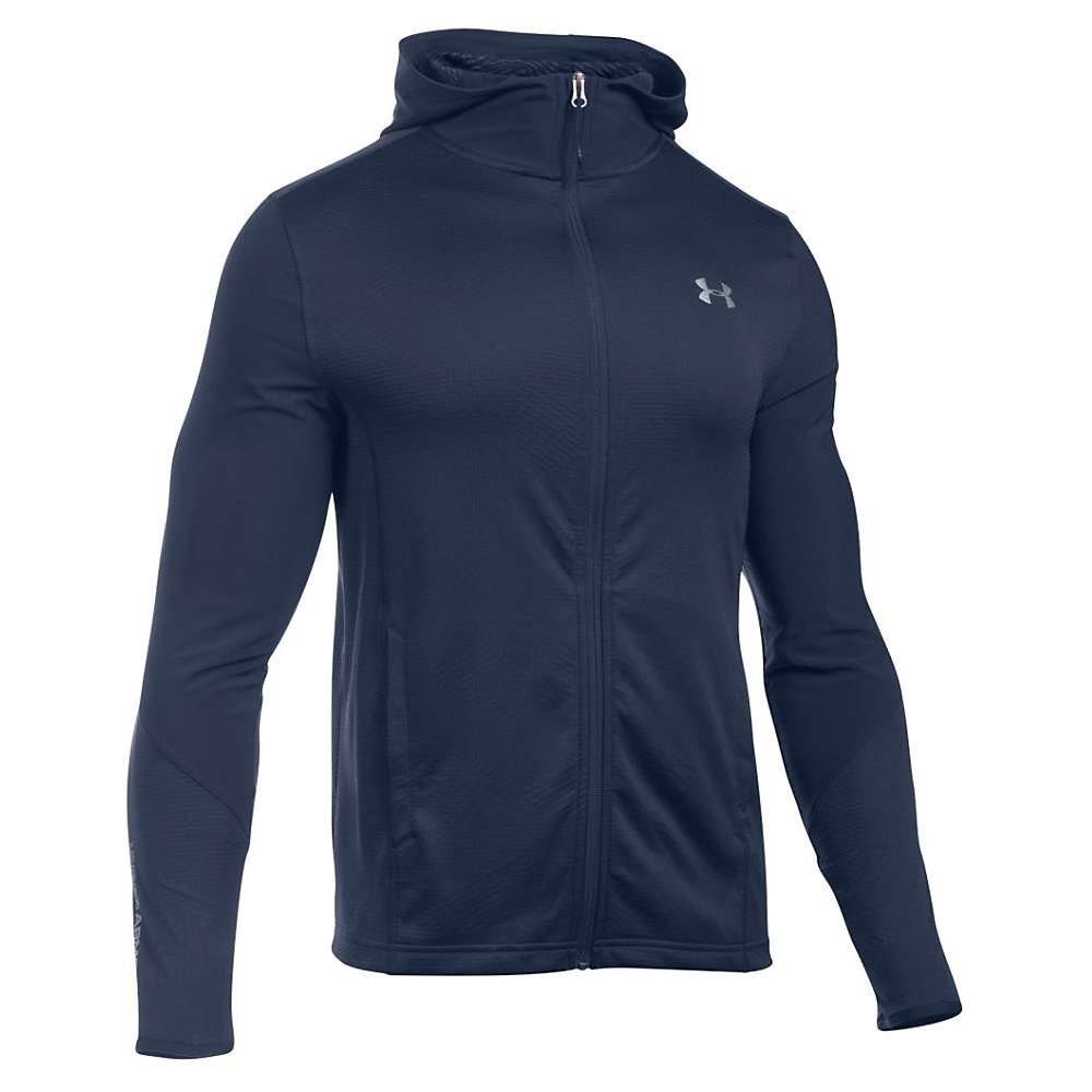 Under Armour Men's ColdGear Infrared Raid Fitted Full Zip Hoody - Large - Midnight Navy / Steel