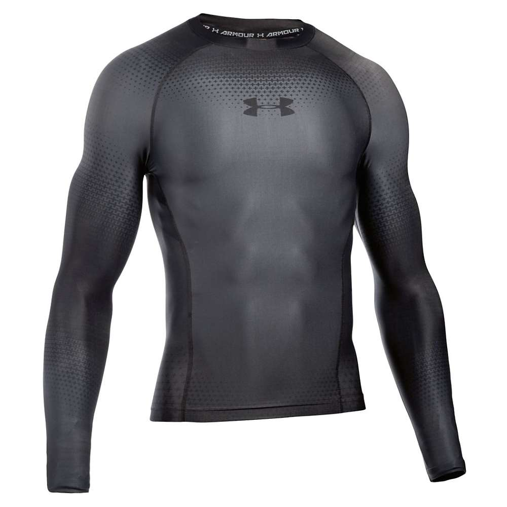 Under Armour Men's UA Charged Compression LS Top - XXL - Graphite / Stealth Gray / Black