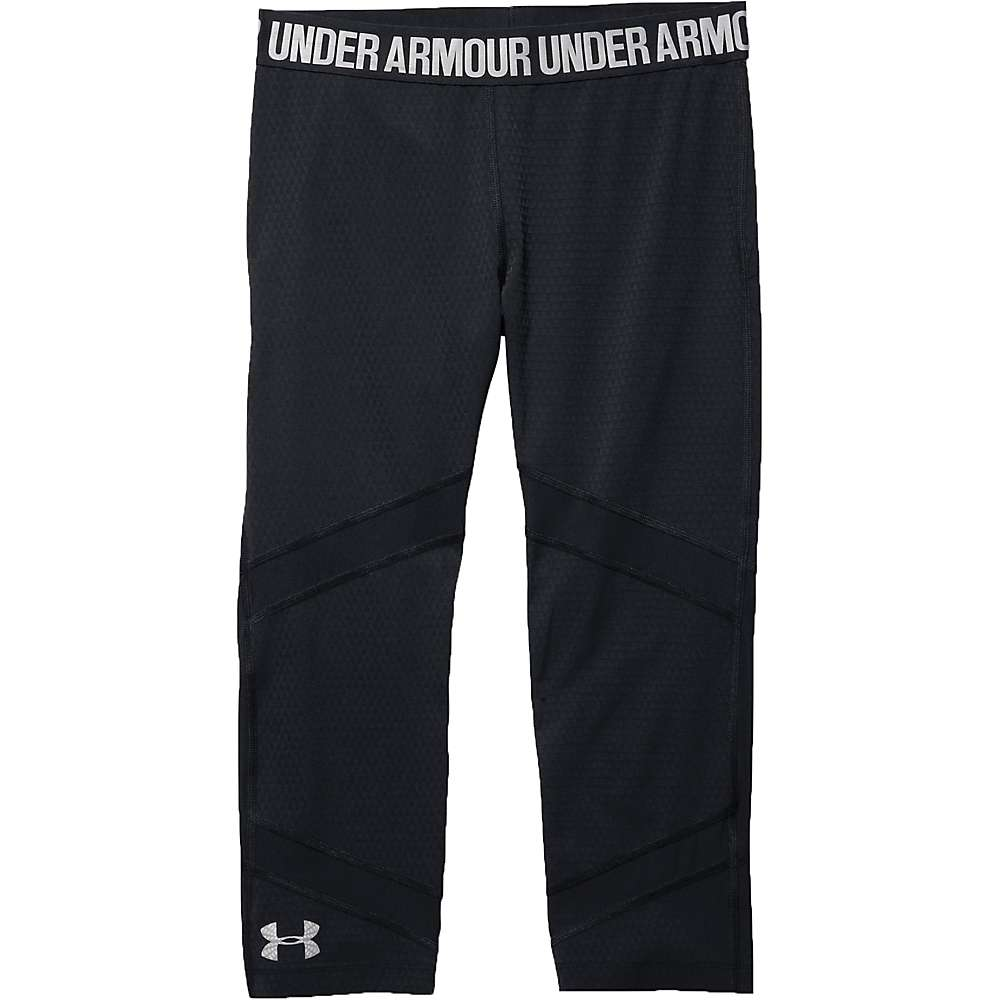 Under Armour Women's Coolswitch Spliced Capri - Large - Black / Black / Reflective
