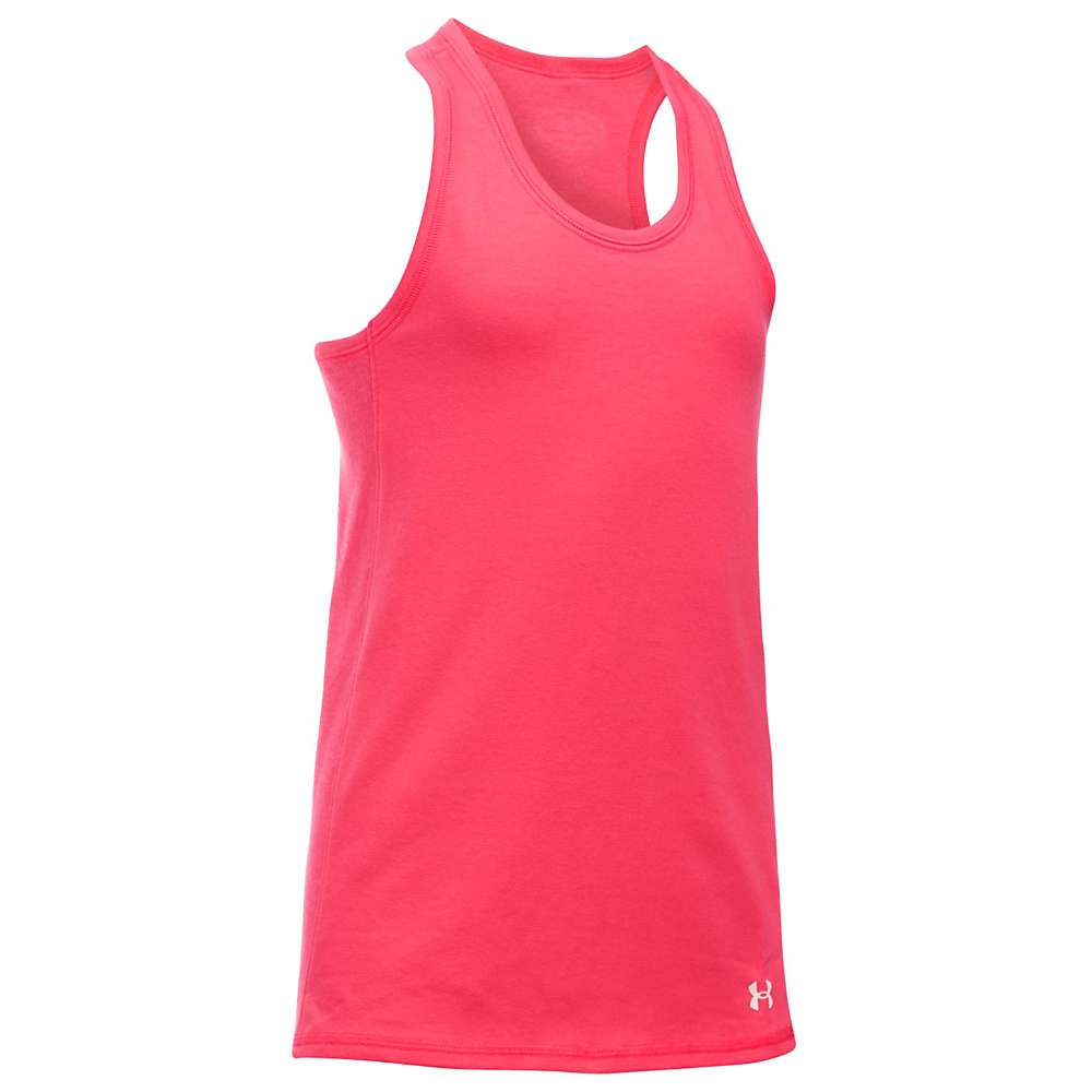 Under Armour Girls' Favorite Knit Tank - Small - Gala / White