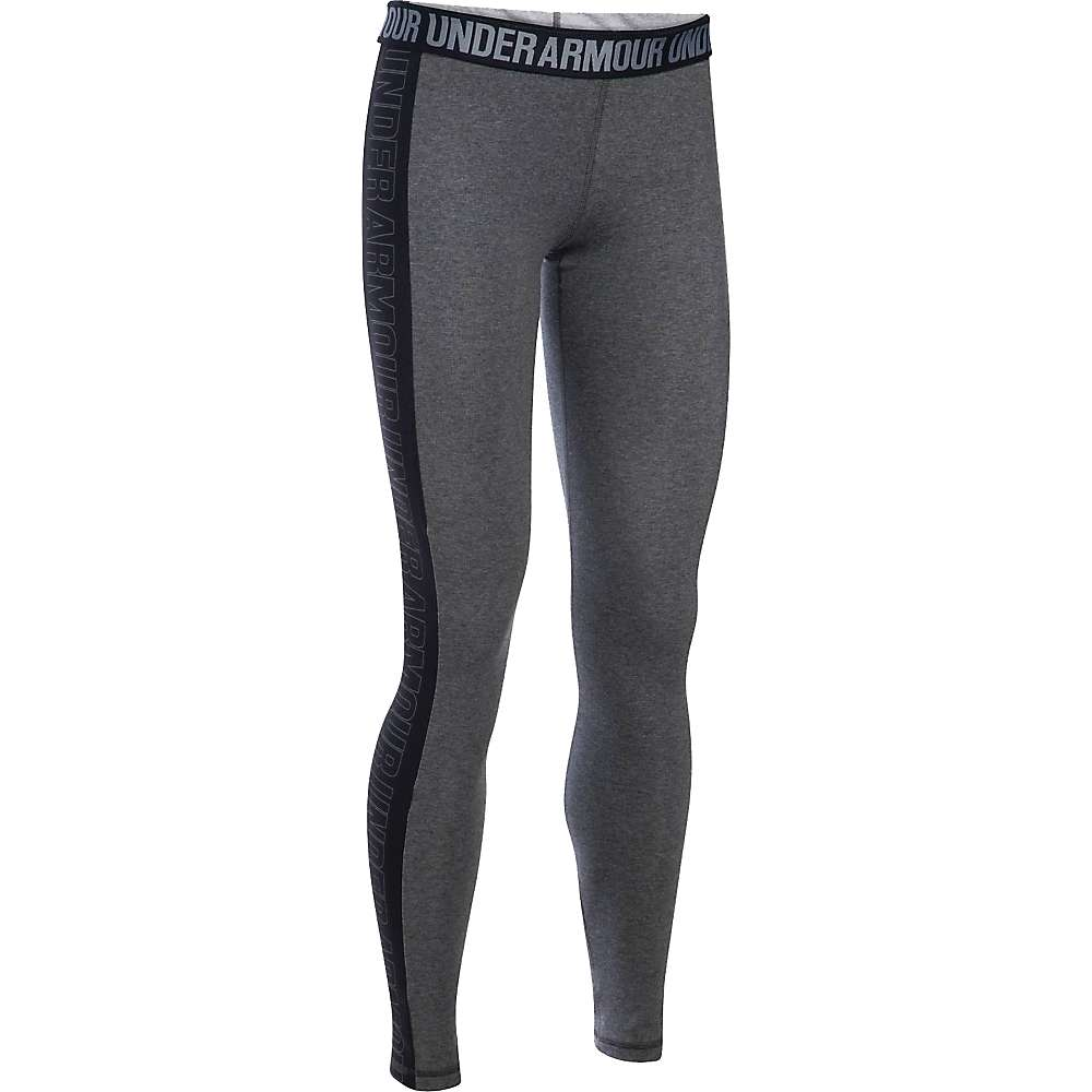 Under Armour Women's Favorite Graphic Legging - Medium - Carbon Heather / Black / Graphite