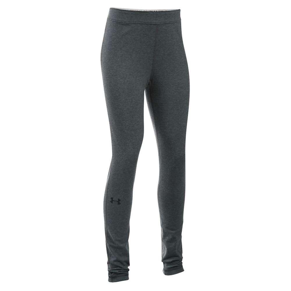Under Armour Girls' Favorite Knit Legging - XL - Carbon Heather / Black