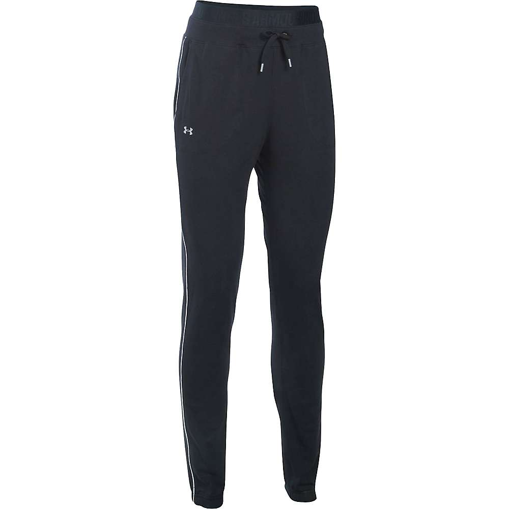 Under Armour Women's Favorite Skinny Jogger Pant - XS - Black / White / Metallic Silver
