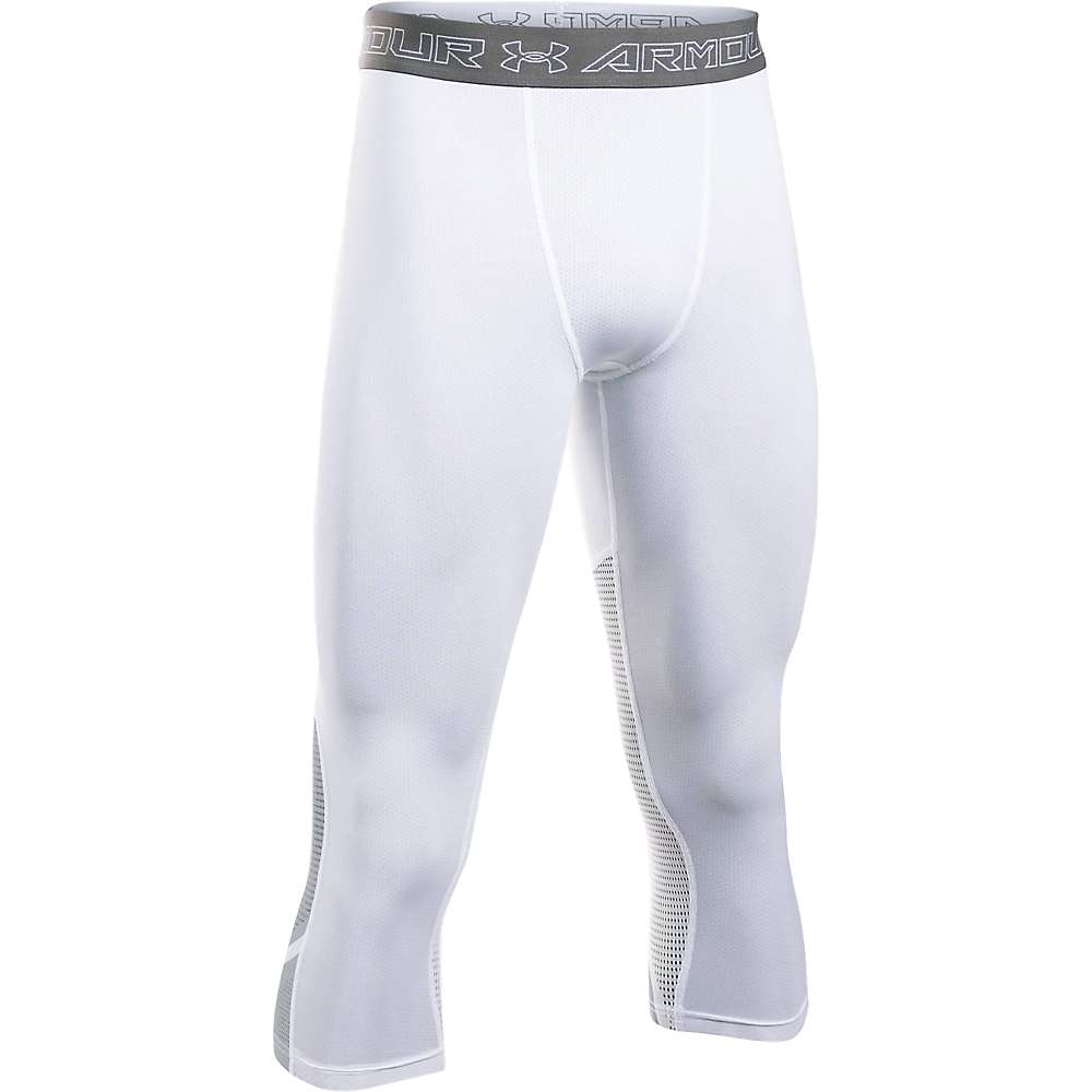 Under Armour Men's HeatGear Armour Supervent Legging - XXL - White / Overcast Gray / White
