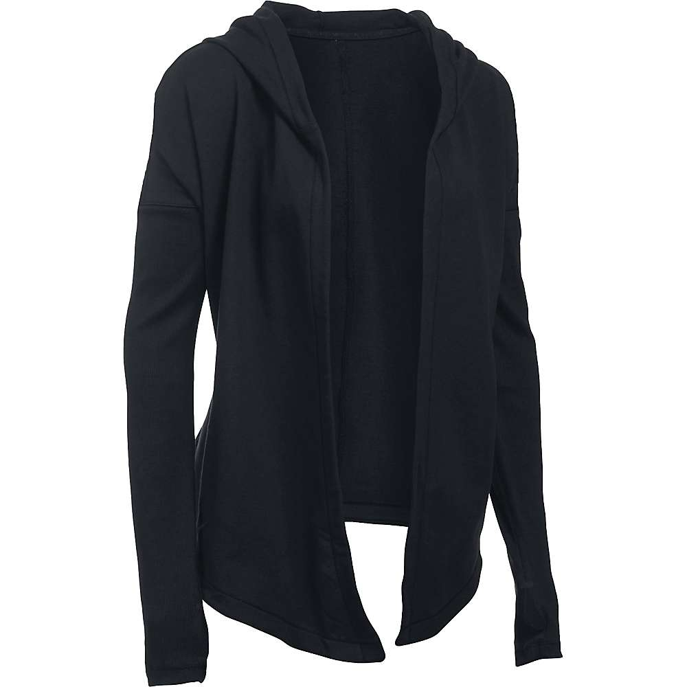 Under Armour Women's Modern Terry Cardigan - Small - Black / Gray Area