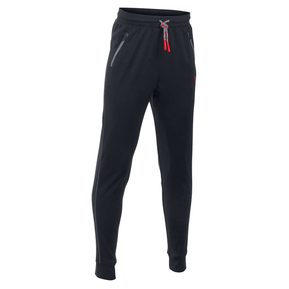 Under Armour Boys' Pennant Tapered Pant - XS - Black / Red