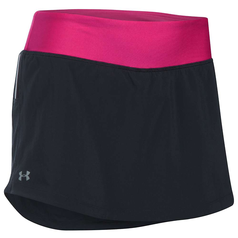 Under Armour Women's Run True Skort - Medium - Black / Tropic Pink / Reflective