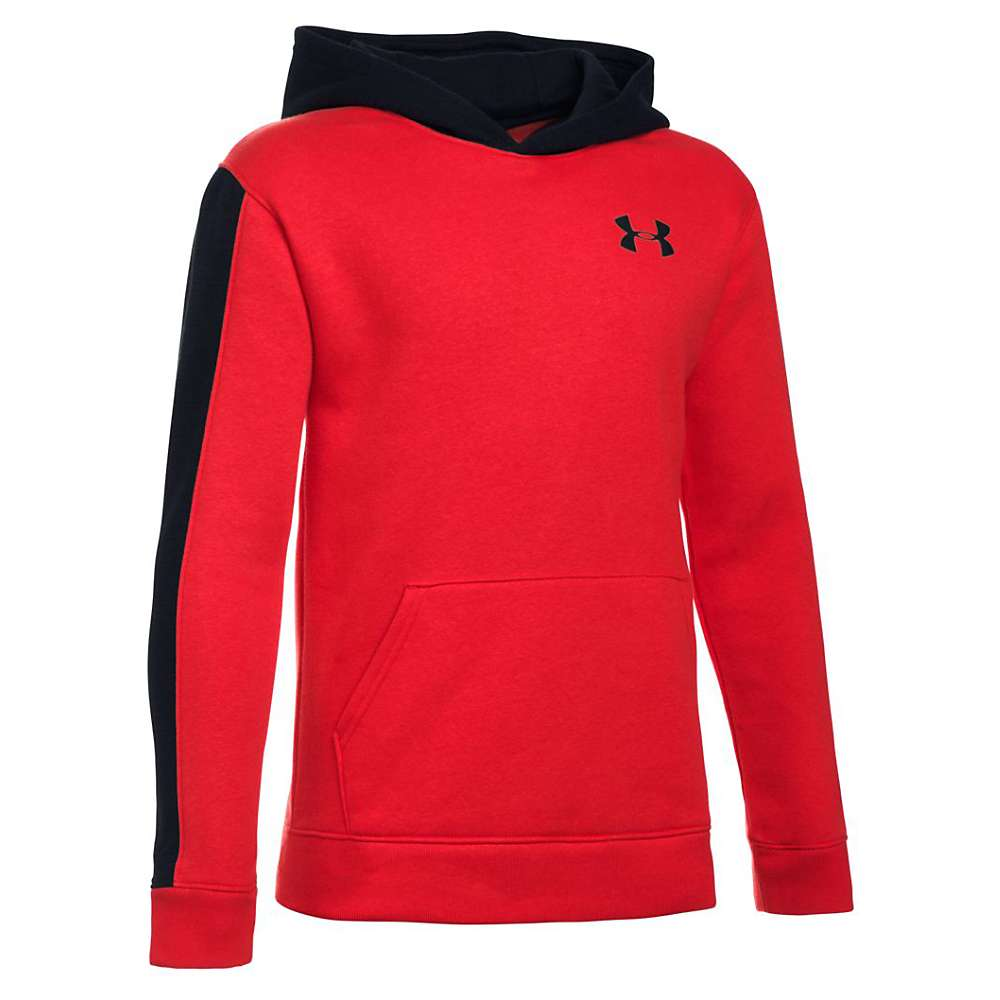 Under Armour Boys' Sportstyle Blocked Hoody - XL - Red / Black / Black